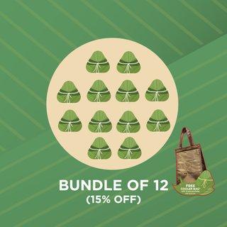 (DELIVERS 5TH - 12TH JUNE) (Bundle of 12) Rice Dumpling