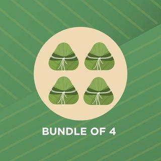 (WITHOUT COOLER BAG) (Bundle of 4) Rice Dumpling