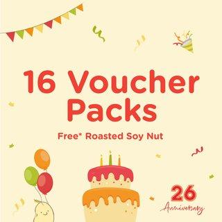 Bundle of 16 Voucher Packs